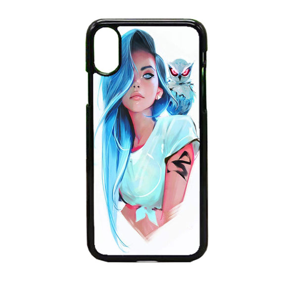 Sapphire By Rossdraws iPhone X Case | Frostedcase