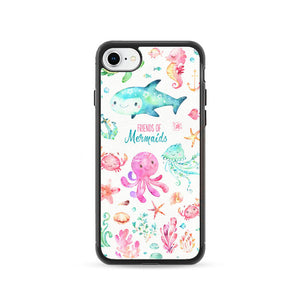 Sea Animals Watercolor Pink iPhone 8 Case | Frostedcase
