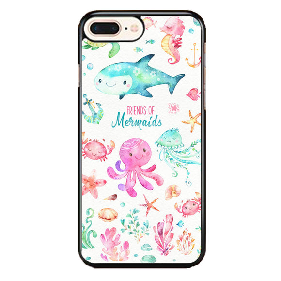 Sea Animals Watercolor Pink iPhone 8 Plus Case | Frostedcase