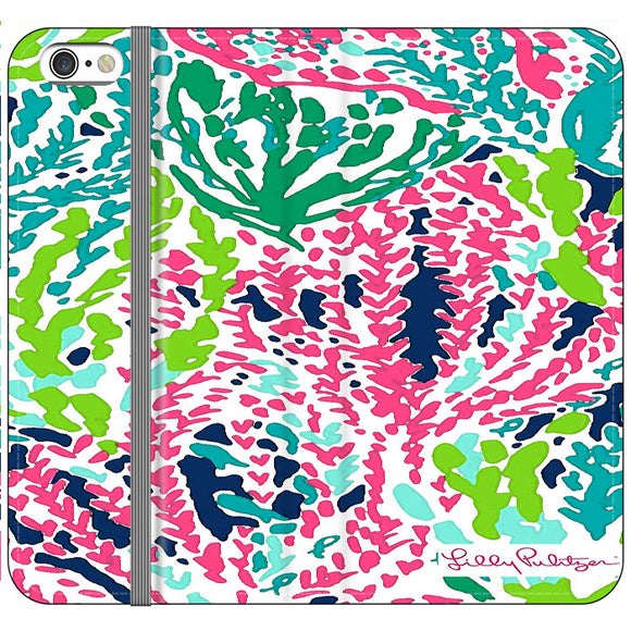 Seaweed Pattern Art Lilly Pulitzer iPhone 6 Plus|6S Plus Flip Case | Frostedcase