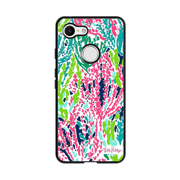 Seaweed Pattern Art Lilly Pulitzer Google Pixel 3 Case | Frostedcase