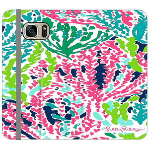 info for 1632e d60b1 Seaweed Pattern Art Lilly Pulitzer Samsung Galaxy S7 Flip Case | Frostedcase