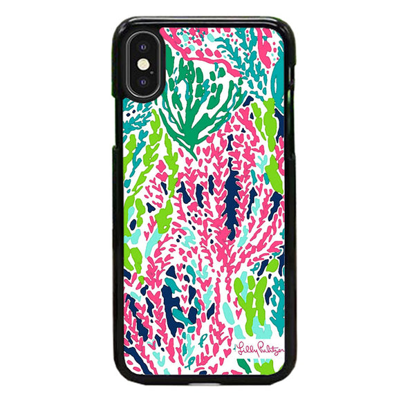 Seaweed Pattern Art Lilly Pulitzer iPhone XS Case | Frostedcase