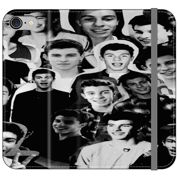 Shawn Mendes Collage iPhone 8 Flip Case | Frostedcase