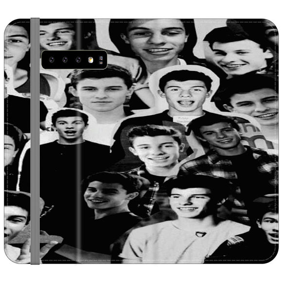 Shawn Mendes Collage Samsung Galaxy S10 Flip Case | Frostedcase