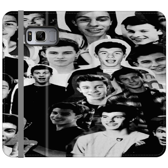 Shawn Mendes Collage Samsung Galaxy S8 Flip Case | Frostedcase