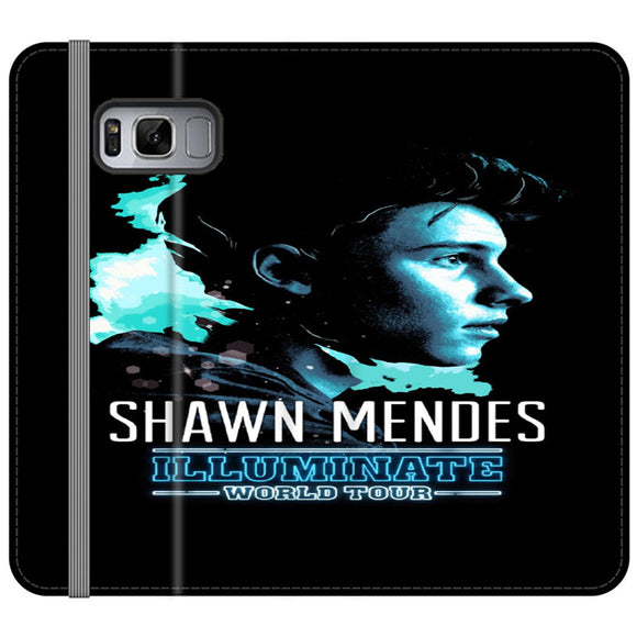 Shawn Mendes Illuminate Tour Poster Samsung Galaxy S8 Flip Case | Frostedcase