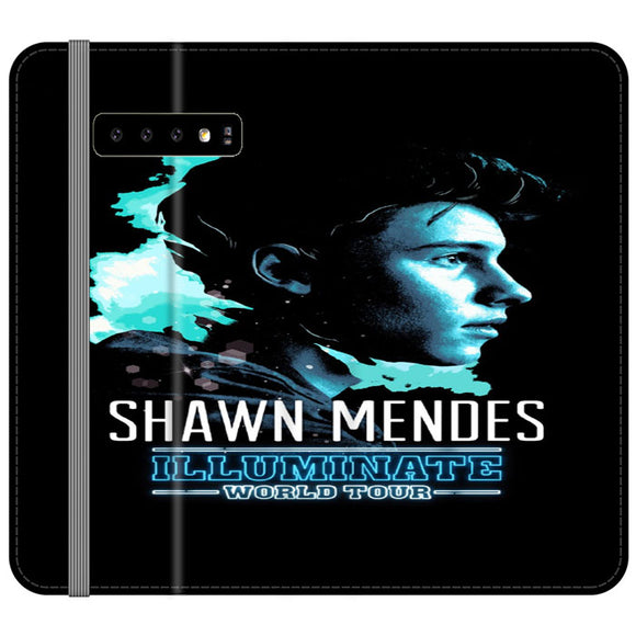 Shawn Mendes Illuminate Tour Poster Samsung Galaxy S10 Flip Case | Frostedcase
