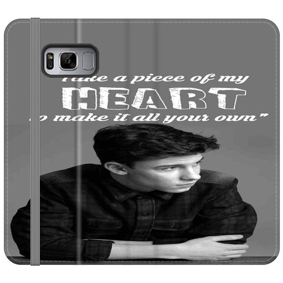 Shawn Mendes Take A Piece Of My Heart Samsung Galaxy S8 Flip Case | Frostedcase