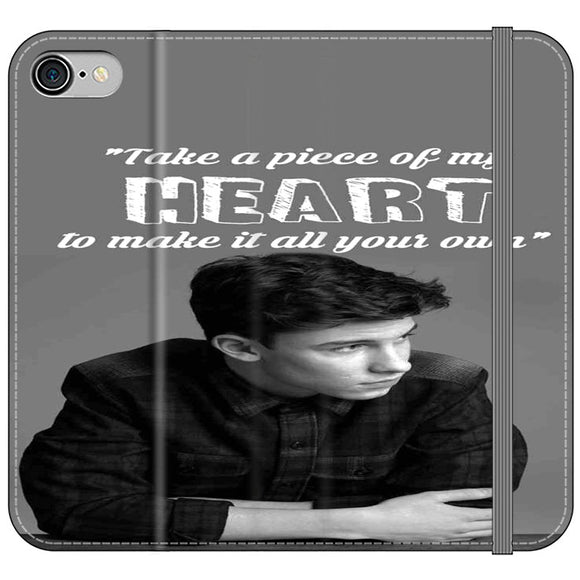 Shawn Mendes Take A Piece Of My Heart iPhone 8 Flip Case | Frostedcase