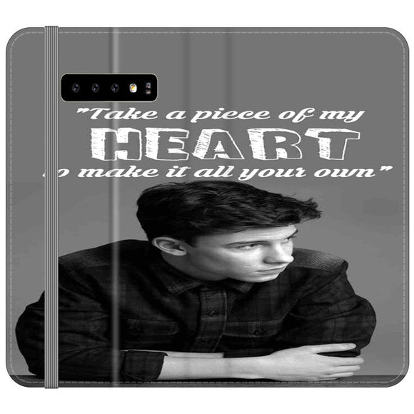 Shawn Mendes Take A Piece Of My Heart Samsung Galaxy S10 Flip Case | Frostedcase