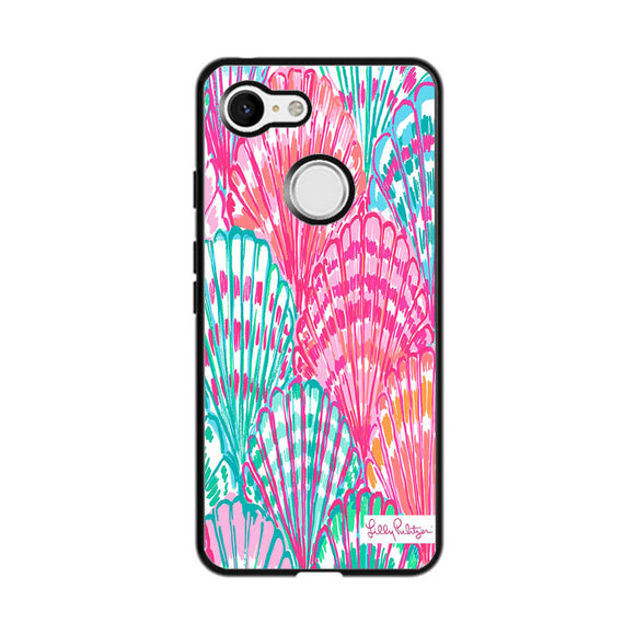 Shell Pattern Lilly Pulitzer Google Pixel 3 Case | Frostedcase