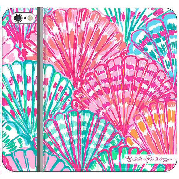 Shell Pattern Lilly Pulitzer iPhone 6 Plus|6S Plus Flip Case | Frostedcase