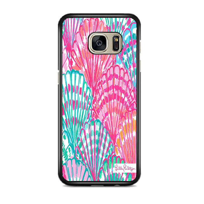 Shell Pattern Lilly Pulitzer Samsung Galaxy S7 EDGE Case   Frostedcase