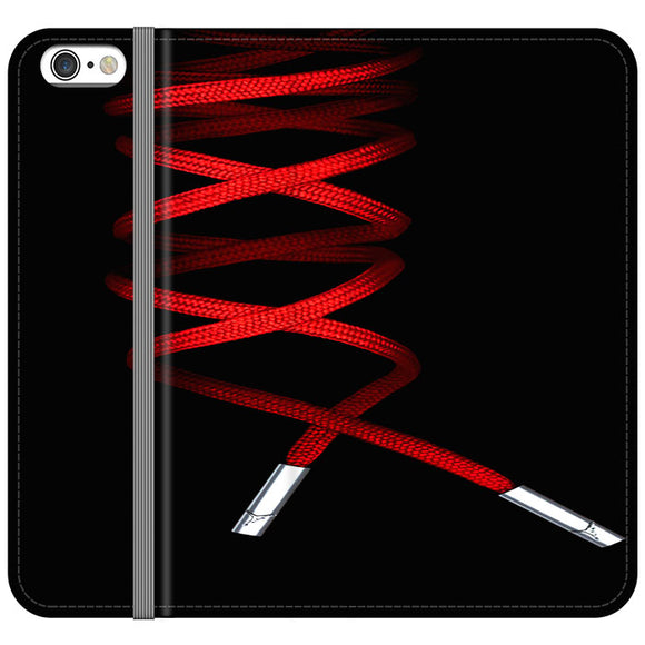Shoelace Jordan Red iPhone 6 Plus|6S Plus Flip Case | Frostedcase
