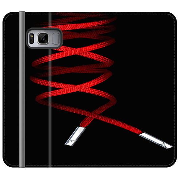 Shoelace Jordan Red Samsung Galaxy S8 Flip Case | Frostedcase