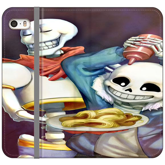 Spaghetti Undertale iPhone 5|5S|SE Flip Case | Frostedcase
