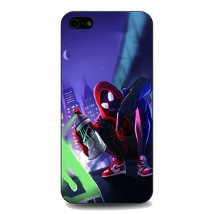 Spider Man Miles Morales Spray Paint Mural iPhone 5|5S|SE Case | Frostedcase