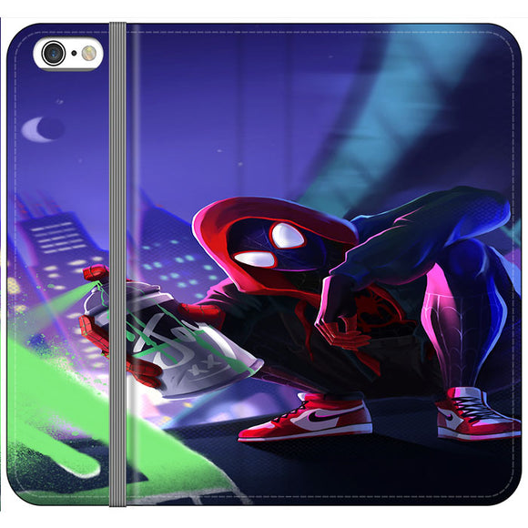 Spider Man Miles Morales Spray Paint Mural iPhone 6 Plus|6S Plus Flip Case | Frostedcase