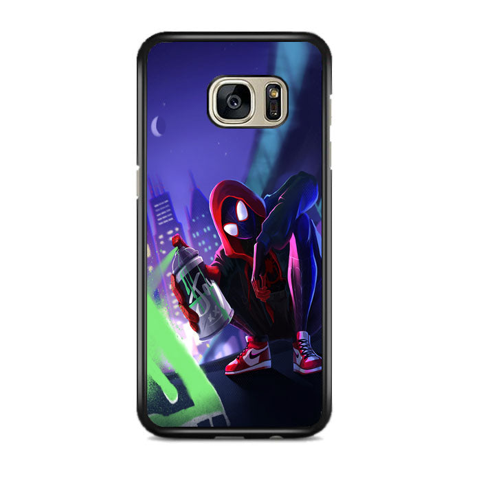 Spider Man Miles Morales Spray Paint Mural Samsung Galaxy S7 EDGE Case | Frostedcase
