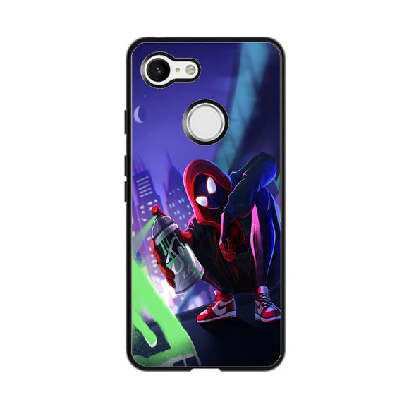 Spider Man Miles Morales Spray Paint Mural Google Pixel 3 Case | Frostedcase