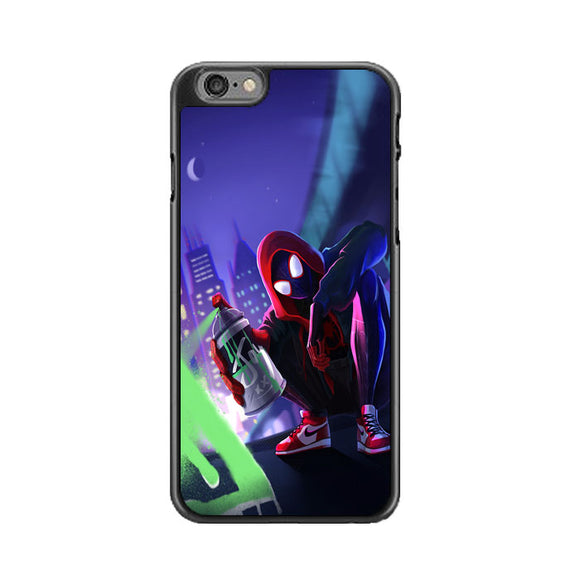Spider Man Miles Morales Spray Paint Mural iPhone 6|6S Case | Frostedcase