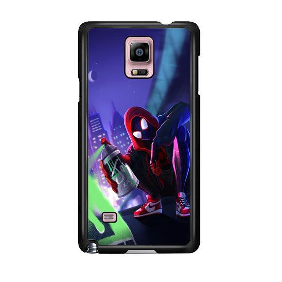 Spider Man Miles Morales Spray Paint Mural Samsung Galaxy Note 4 Case | Frostedcase