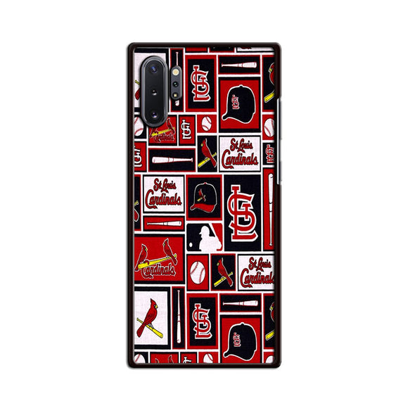 St Louis Cardinals Baseball Doodle Logo Samsung Galaxy Note 10 Case | Frostedcase