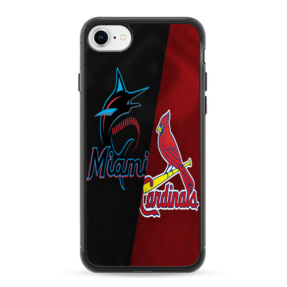 St Louis Cardinals X Miami Marlins Emblem iPhone 8 Case | Frostedcase