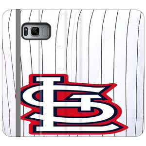 St Louis Cardinals Jersey Samsung Galaxy S8 Plus Flip Case | Frostedcase