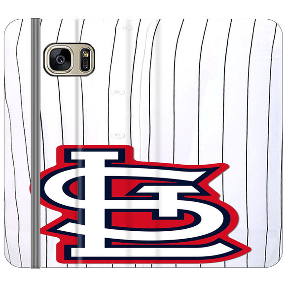 St Louis Cardinals Jersey Samsung Galaxy S7 Flip Case | Frostedcase