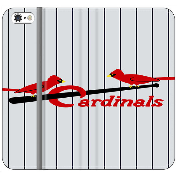 St Louis Cardinals Jersey Emblem iPhone 6 Plus|6S Plus Flip Case | Frostedcase