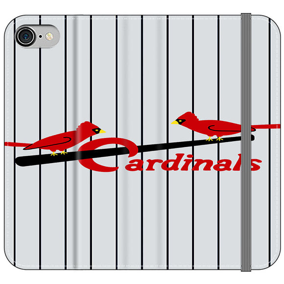 St Louis Cardinals Jersey Emblem iPhone 8 Flip Case | Frostedcase