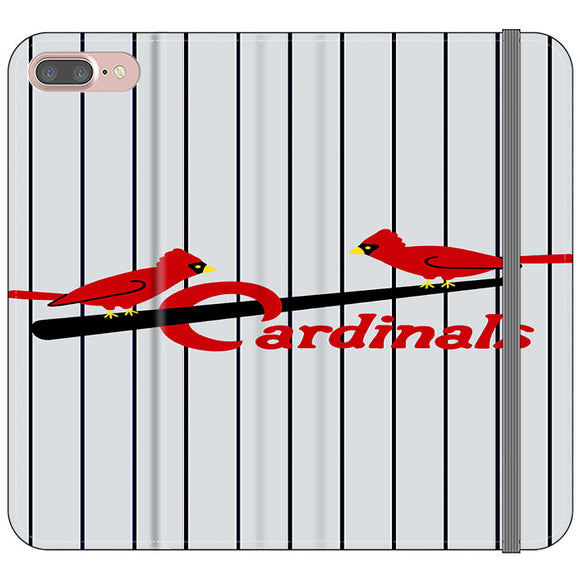 St Louis Cardinals Jersey Emblem iPhone 7 Plus Flip Case | Frostedcase