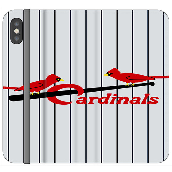 St Louis Cardinals Jersey Emblem iPhone X Flip Case | Frostedcase
