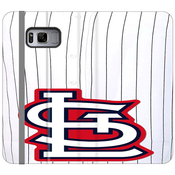 St Louis Cardinals Jersey Samsung Galaxy S8 Flip Case | Frostedcase