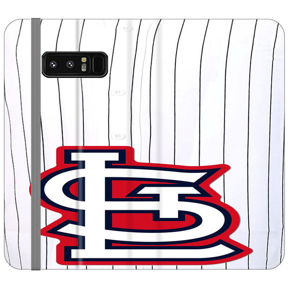 St Louis Cardinals Jersey Samsung Galaxy Note 8 Flip Case | Frostedcase