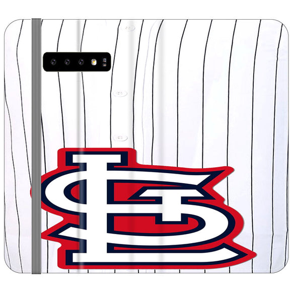 St Louis Cardinals Jersey Samsung Galaxy S10 Plus Flip Case | Frostedcase