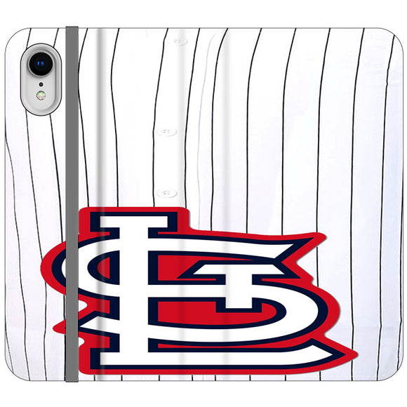 St Louis Cardinals Jersey iPhone XR Flip Case | Frostedcase