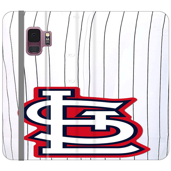 St Louis Cardinals Jersey Samsung Galaxy S9 Flip Case | Frostedcase