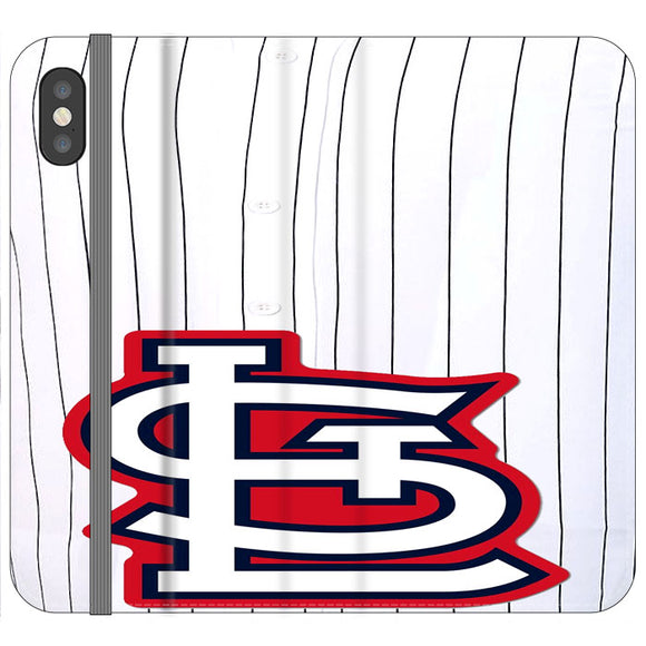 St Louis Cardinals Jersey iPhone X Flip Case | Frostedcase
