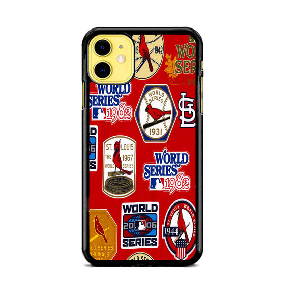St Louis Cardinals World Series Emblem iPhone 11 Case | Frostedcase