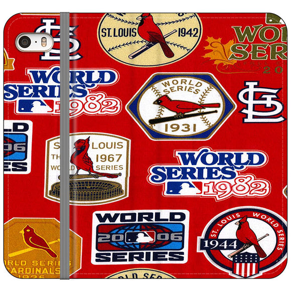 St Louis Cardinals World Series Emblem iPhone 5|5S|SE Flip Case | Frostedcase