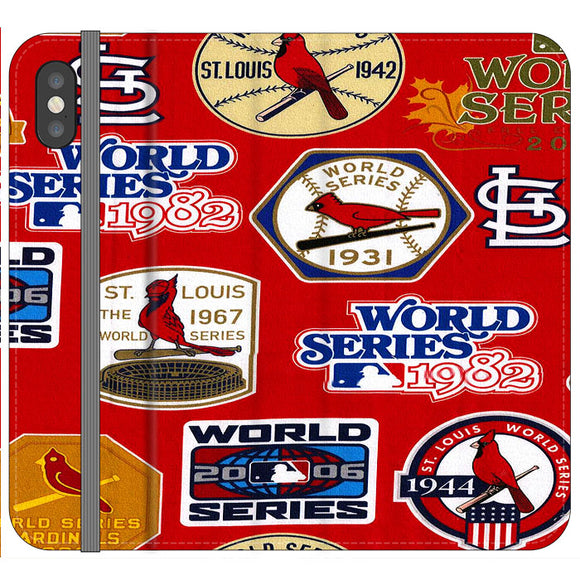 St Louis Cardinals World Series Emblem iPhone X Flip Case | Frostedcase