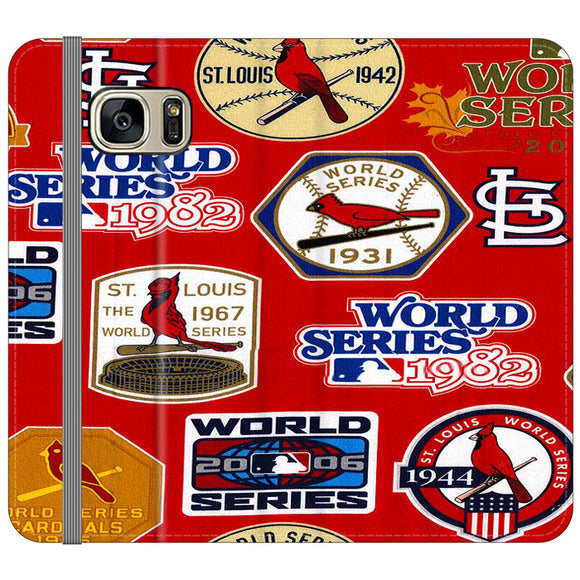 St Louis Cardinals World Series Emblem Samsung Galaxy S7 EDGE Flip Case | Frostedcase