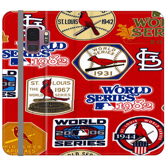 St Louis Cardinals World Series Emblem Samsung Galaxy S9 Flip Case | Frostedcase