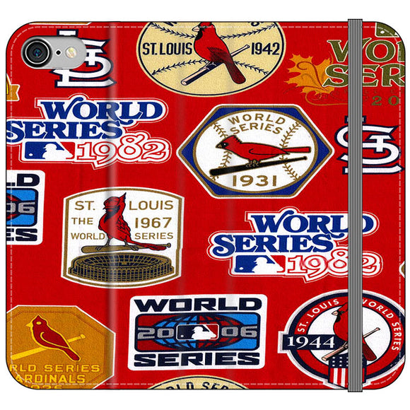 St Louis Cardinals World Series Emblem iPhone 8 Flip Case | Frostedcase