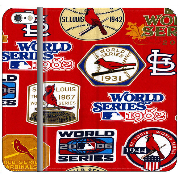 St Louis Cardinals World Series Emblem iPhone 6|6S Flip Case | Frostedcase