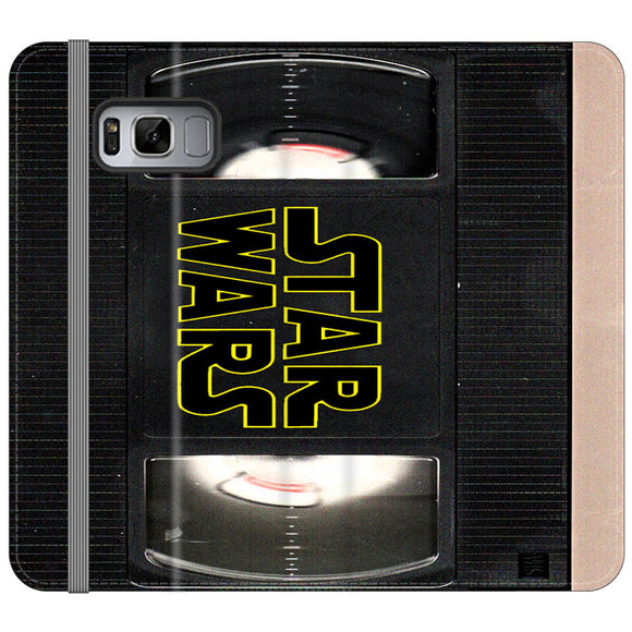 Star Wars Vhs Tape Hard Book Samsung Galaxy S8 Flip Case | Frostedcase