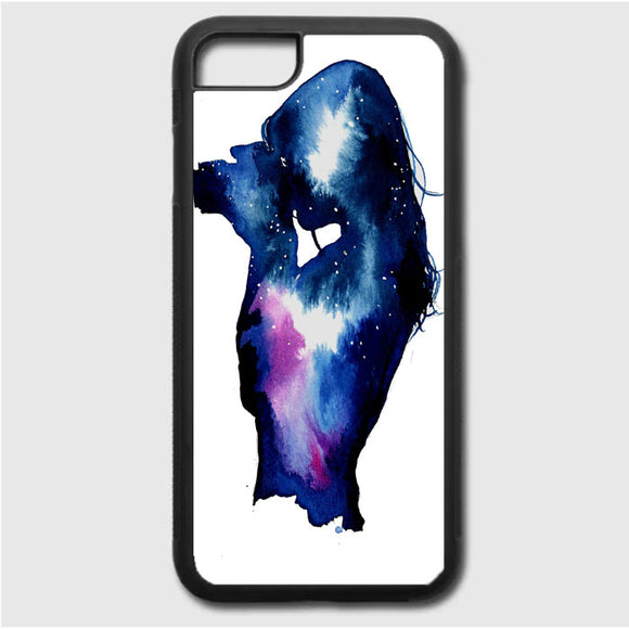 Starry Night Sky Silhouette iPhone 7 Case | Frostedcase